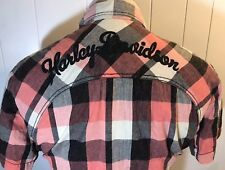 Harley Davidson Womans Plaid Button Down SS Embroidered Shirt Size 2XL HD