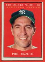 1961 Topps #471 Phil Rizzuto EX./EX WRINKLE MVP New York Yankees FREE SHIPPING