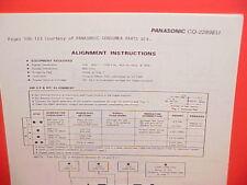 1978 PANASONIC 8-TRACK STEREO TAPE PLAYER/AM RADIO SERVICE SHOP MANUAL CQ-2289EU
