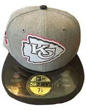 NWT KANSAS CITY CHIEFS NFL FOOTBALL PINK RIBBON New Era 5950 Fitted Hat Sz 7 1/8