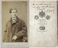 Mulnier Fotografia a Parigi, Mme Mark, CDV Albume D'Uovo Vintage Ca 1865
