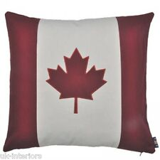 45.7cm Canadien Feuille D'erable Canada Drapeau Coton Coussin Tissé Tapisserie