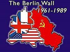 Berlin Wall 61-89 steel fridge magnet   (na)