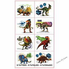 DINOSAUR BIRTHDAY PARTY JURASSIC WORLD TATTOOS 8 PIECE FAVOUR BAG FILLER BOYS