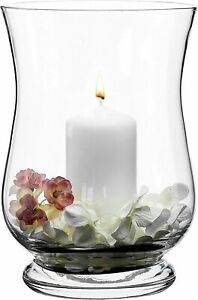 Glass Footed Hurricane Storm Lantern Candle Holders - choice of styles
