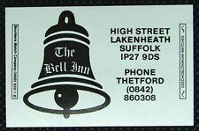 Matchbox label Bouldens The Bell Inn High Street Lakenheath Suffolk ML700