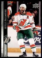 2020-21 UD Series 1 French #110 Kyle Palmieri - New Jersey Devils