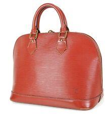 Authentic LOUIS VUITTON Alma Brown Epi Leather Handbag #35133