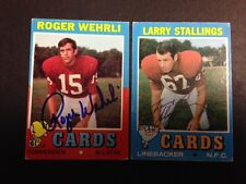 Autographed 1971 Topps Larry Stallings Cards  Football Card with COA