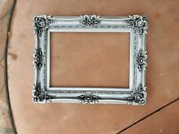 Vintage Silver Picture Frames, Baroque Canvas, Art, Distressed Ornate