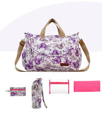 5pcs Luxury Large Floral Multifunction Waterproof Baby Nappy Changing Bag