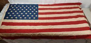 Vintage 1959 49-Star Flag Dettras Products Everwear Bunting 3X5 Foot Original