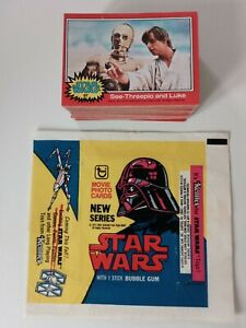 STAR WARS TRADING CARDS 1977 RED SET + WAX WRAPPER