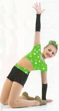 Full Circle Dance Costume Biketard Mesh Middle Tap Gymnastic Child Small New