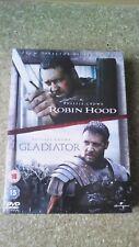 ROBIN HOOD - GLADIATOR - RUSELL CROWE - DOUBLE SET (DVD) New