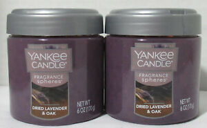 Yankee Candle Fragrance Spheres Neutralizing Beads Lot 2 DRIED LAVENDER & OAK