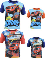 Kids Boys BLAZE MONSTER Disney Characters Short Sleeves T.shirt Top,2 3 4 5 6Yrs