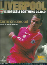 LIVERPOOL F.C V BORUSSIA DORTMUND 2001/02 CHAMPIONS LEAGUE MATCHDAY PROGRAMME
