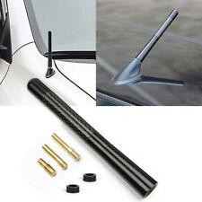 "JDM Black 5"" Screw On Carbon Fiber Aluminum Short Antenna Kit Universal For Car"