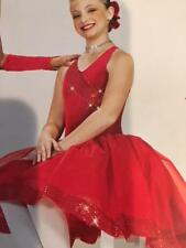 Christmas Dance Costume lyrical ballet red long tutu bright as day