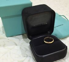 Tiffany & Co Lucida 4.5mm Wedding Ring Band 18k 18ct Yellow Gold $1600 SALE
