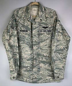 US Air Force USAF Mens COAT Utility Shirt Camouflage Tiger CAMO Size 40 XL ABU