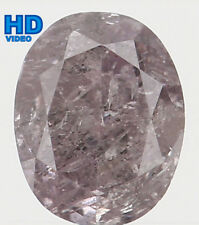 Natural Loose Diamond Pink Color Oval I2 Clarity 4.25X3.40X2.35 MM 0.29 Ct L4860