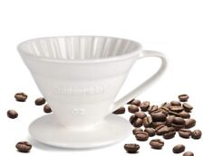 Kuissential Size 02 Ceramic Pour-Over Coffee Dripper Manually Brew In Mug/Carafe