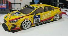 Tamiya 1/10 24h Nurburgring Subaru WRX STI completed body - Yellow