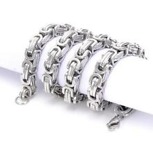 Men's Huge Byzantine Link-chain Necklace 12mm 24'' Silver 245g Stainless Steel