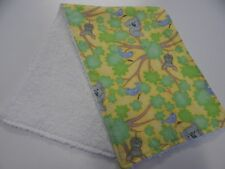 Koalas Possums in Trees -Green Yellow Burp Cloth - 1 Only Towelling Back
