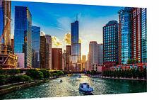 Leinwand Stadt City Usa Großstadt Bilder Wandbilder - Hochwertiger Kunstdruck