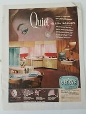 1956 Geneva kitchen cabinets vintage design ad
