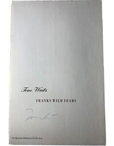 Tom Waits signed Franks Wild Year concert program rare 1987 1988