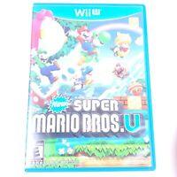 New Super Mario Bros. U (Wii U, 2012) - Great Condition Fast Free Shipping