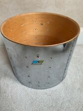"Vintage 70s 80s Ludwig 12"" x 15"" Marching Snare Drum Shell - Blue Olive Badge"
