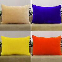 Pillow Sham Throw Solid Pattern Orange Home Decor Cushion Cover Velvet Case