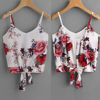 New Women Ladies V Neck Crop Cami Tank Top Camisole Vest Tops Blouse Tee T-Shirt