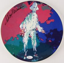 Leroy Neiman Signed Royal Doulton Pierott Art Ceramic Plate & Storage Box w/ Jsa