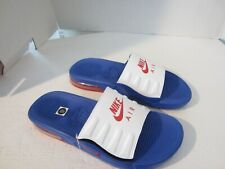 Nike Air Max Camden Slide Sandals  BQ4626-401 Blue  Mens  White NEW