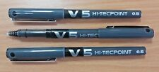 3 NEW PILOT V5 HI-TECPOINT EXTRA FINE 0.5mm NEEDLEPOINT PURE LIQUID BLACK INK