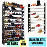 Large 50 Pair 10 Tier Space Save Storage Organizer Free Standing Shoe Tower Rack