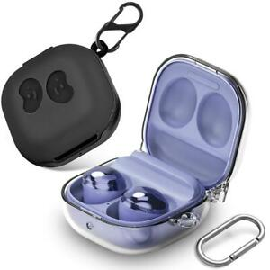 Black / Clear Case with Carabiner for Galaxy Buds Live (2020) / Buds Pro (2021)