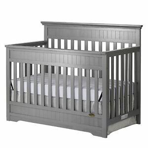Slumber Baby Chesapeake 5-In-1 Convertible Crib - Storm Grey