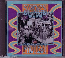 SONGS OF PROTEST Various Artists 1991 Rhino CD 60s Sonny Bono Phil Ochs Donovan