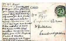 Genealogy Postcard - Family History - Biggs - Whittelsea - Cambridgeshire  A1431