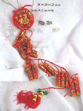 XL 89 cm Chinois Or Rouge artificielle des pétards Parti japonais SHOP DECO N1518