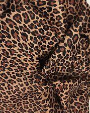 Genuine Lambskin Leather Animal Leopard Print Hide Skin Camel Color 7-7.75 SF