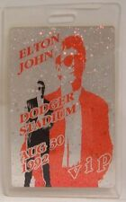 ELTON JOHN - ORIGINAL 1992 DODGER STADIUM LAMINATE HOLOGRAM SHOW PASS