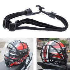 Motorcycle Flexible Retractable Helmet Luggage Elastic Rope Strap With 2 Hooks